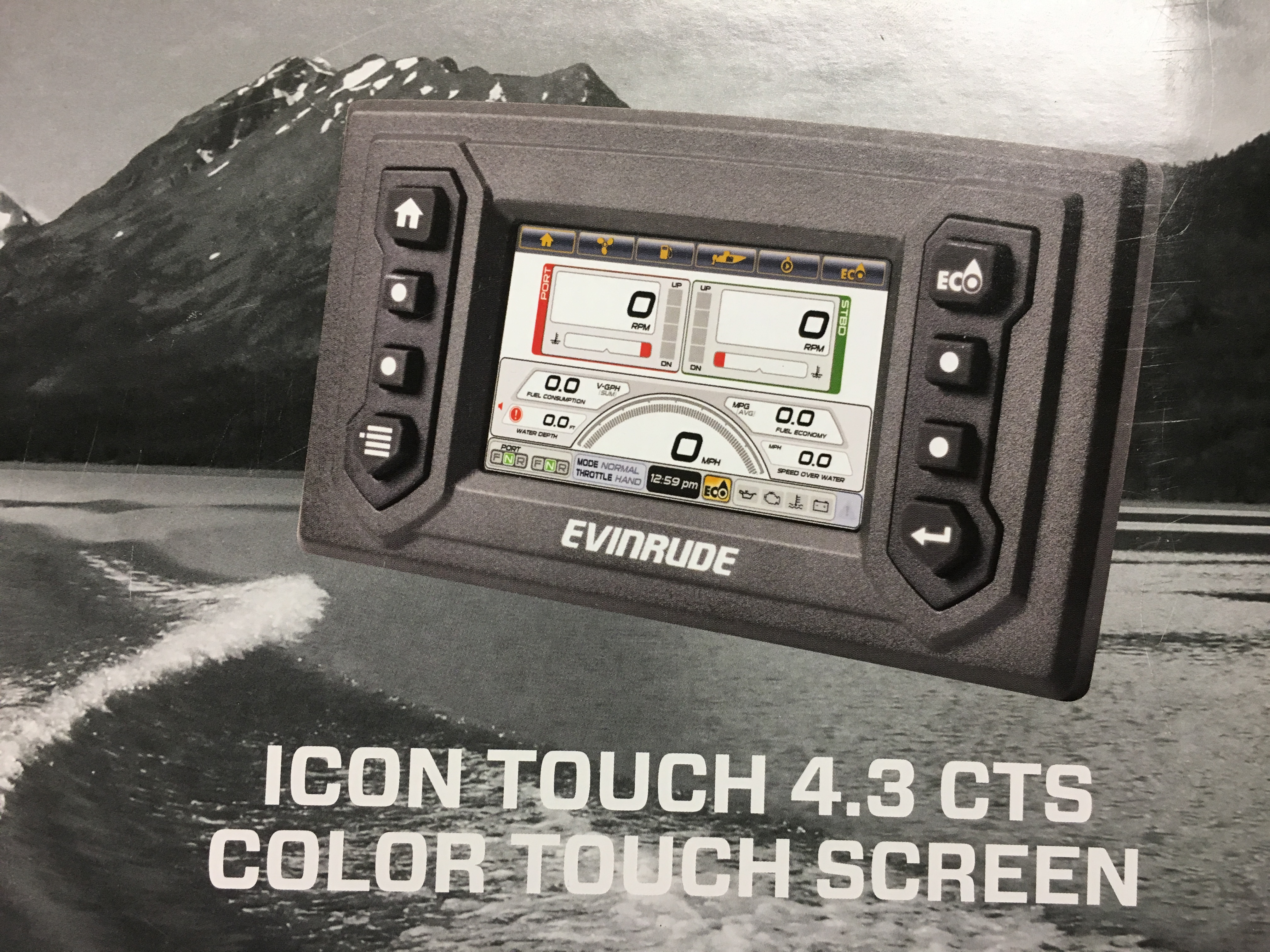 0769943 BRP ICON 4 3 CS COLOR TOUCH SCREEN EVINRUDE 766285 CTS G2 ETEC  Outboards