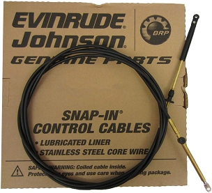 OEM 173128 / 0764128 - 28FT Snap In Control Cable For Johnson Evinrude Outboard Motor